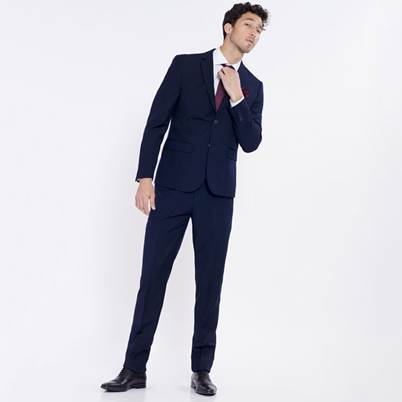 1 suit+1 shirt+1 tie with poset at 195€