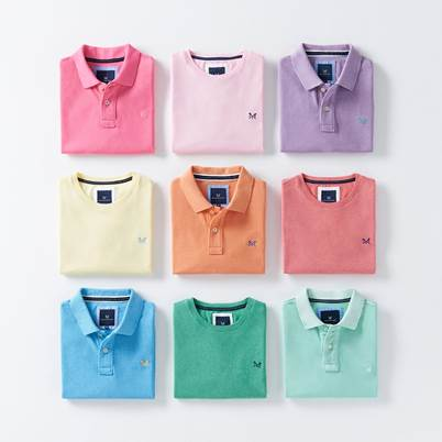 Brighten up your wardrobe with 3 for 2 on Polos and T-Shirts
