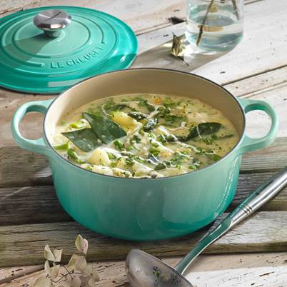 50% off Cool Mint Cast Iron and Stoneware*