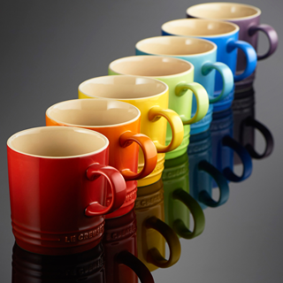 Collect The Rainbow with Le Creuset's collection of 30 different coloured Mugs
