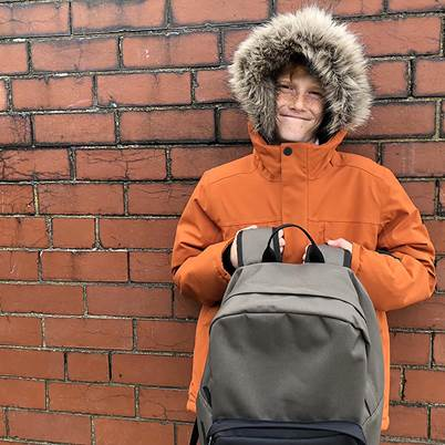 Free backpack with selected children's coat styles