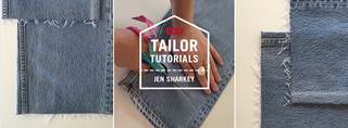 Levi's Taylor Tutorial - Raw Hem
