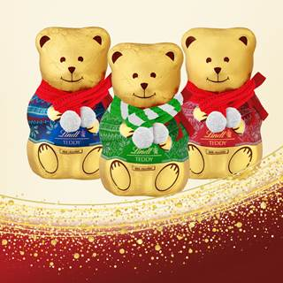 Purchase a Teddy 200g in store and receive a FREE scarf!  Add a special touch to the Lindt 200g bear this Christmas.