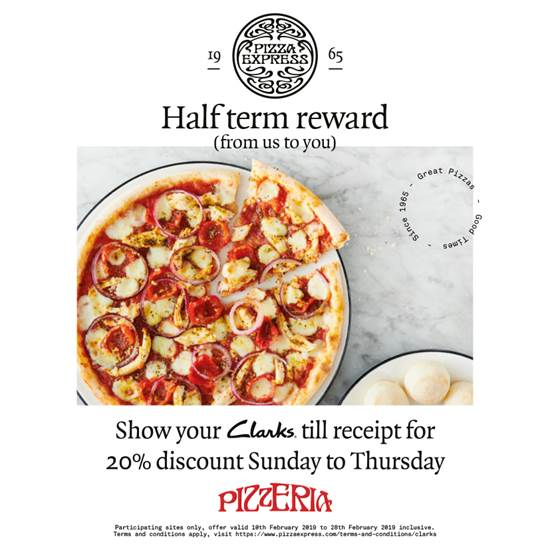 PizzaExpress Half-Term Reward