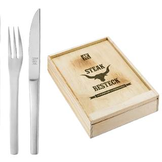 Steak Cutlery Set 12 Pcs. 6 Pers. in Wooden Box