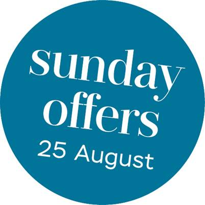 Discover all sunday offers